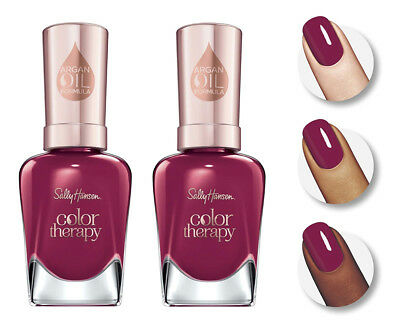 Lot Of 2 Sally Hansen Color Therapy   380 Ohm My Magenta   New Sealed Free Ship