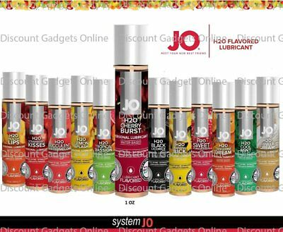 System Jo H2O Flavored Lube Edible Water-Based Sex Lubricant 4oz - CHOOSE FLAVOR