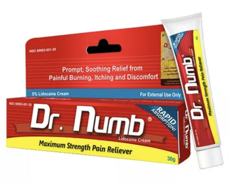 Dr Numb Topical Anesthetic Cream 30g Expires: 12/23 (AUTHORIZED DISTRIBUTOR)