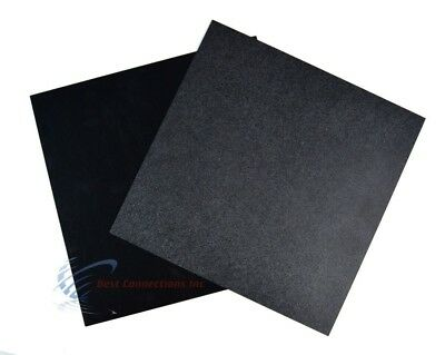 2 Pcs Black Abs Plastic Sheet 12 X 12 X 116 Flexible Smooth Back