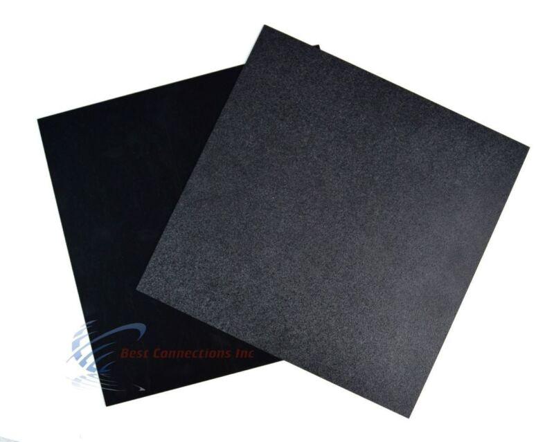 "2 Pcs Black ABS Plastic Sheet 12"" x 12"" x 1/16"" Flexible Smooth Back"