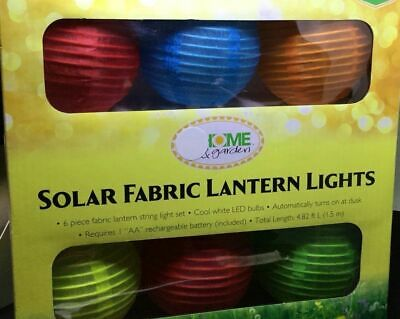 Garden Patio Gazebo Cool LED Solar Fabric Lantern String - Solar Paper Lanterns