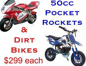 50cc DIRT BIKES & Pocket Rockets Chandler Brisbane South East Preview