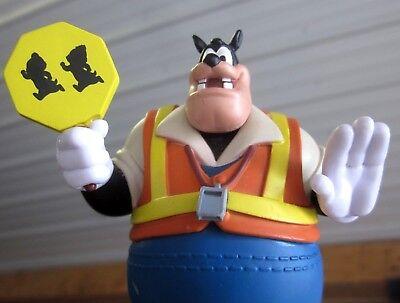 BLACK PETE plastic figure Disney decorative toy Peg-Leg as Traffic Guard PVC