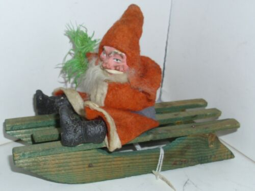 Antique German Santa Candy Container on Sled