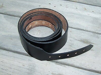 civil war black leather cartridge box sling 72 inches