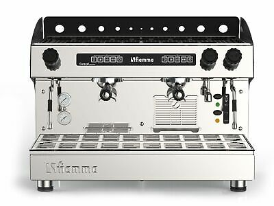 Automatic Commercial 2 Group Espresso Machine Cappuccino Latte Programmable