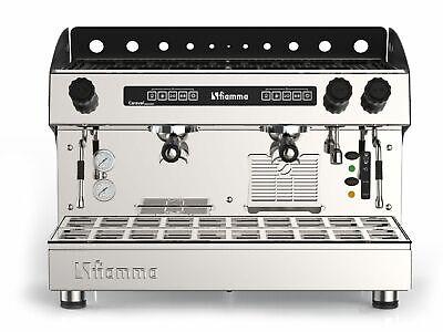 Automatic Commercial 2 Group Espresso Machine Cappuccino Latte Programmable