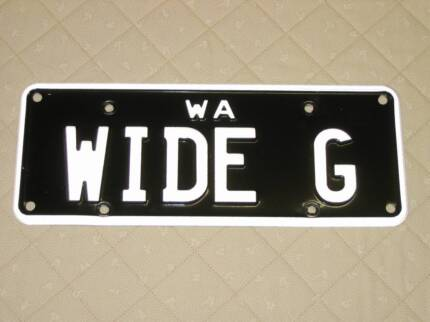 "Custom Number Plates ""WIDE G"" for Harley Wide Glide FXDWG Dyna"