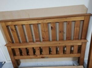 Good quality wood queen bed frame
