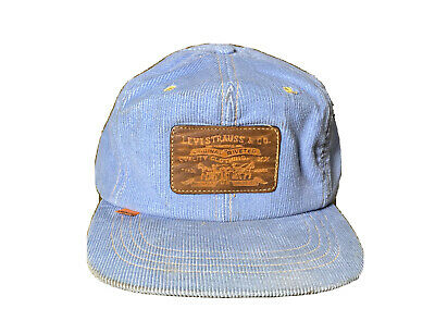Vintage Leather Patch Levi Strauss Orange Tag Corduroy Hat