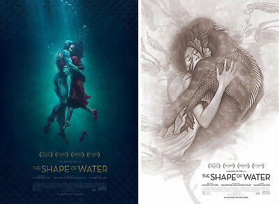 The Shape of Water (2017) ***Original Movie Poster Set of 2 / Size: 13.5