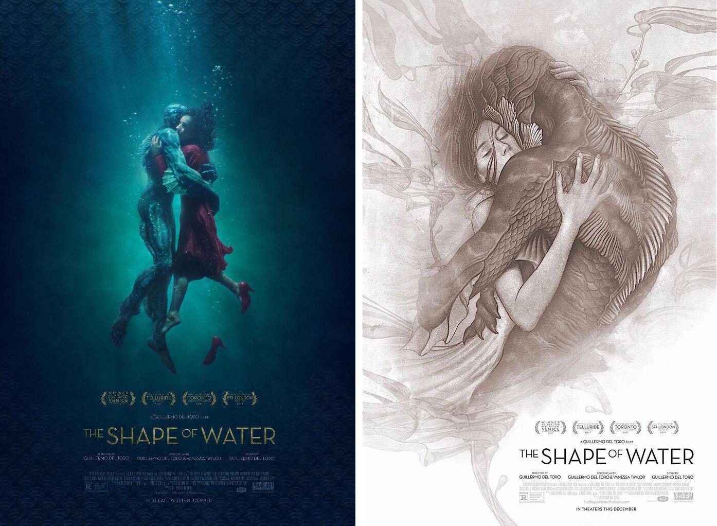 Купить The Shape of Water (2017) ***Original Movie Poster Set of 2 / Size: 13.5x20