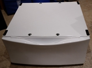 White Stand for Kenmore Elite HE4 Dryer.