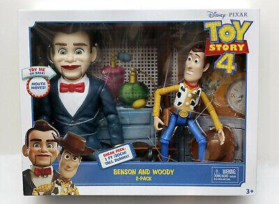 Disney Pixar TOY STORY 4 Benson and Woody 2 Pack Sneak Peek Dummy #1 - NIP HTF