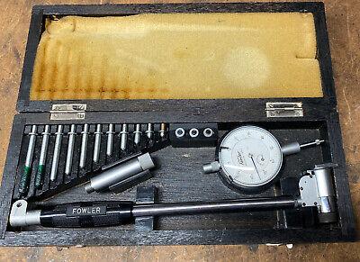 Fowler Dial Bore Gauge 2-6 Working In Wooden Case