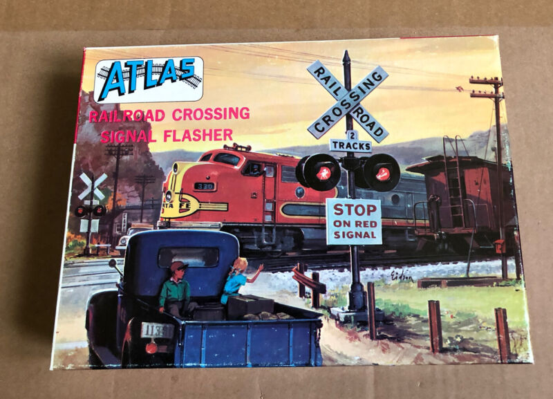 Vintage Atlas HO Scale #826-398 Rsilroad Crossing Signal Flasher Sets (2)