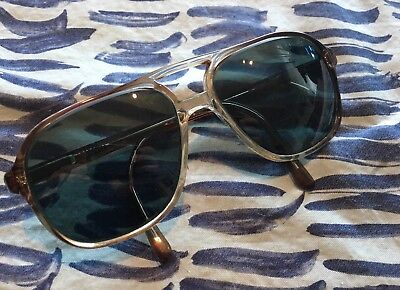 VINTAGE MENS L'AMY AVIATOR PLASTIC CLEAR GRAY EYEGLASSES FRAMES