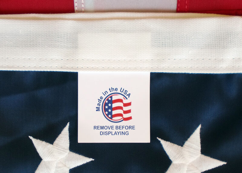 Embroidered 3-ft-by-5-ft Nylon American Flags *100% MADE IN U.S.A.* 3x5' Charity
