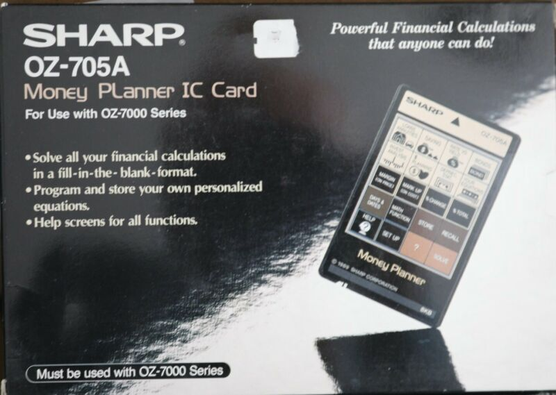 SHARP OZ-705A MONEY PLANNER IC CARD New Never Used