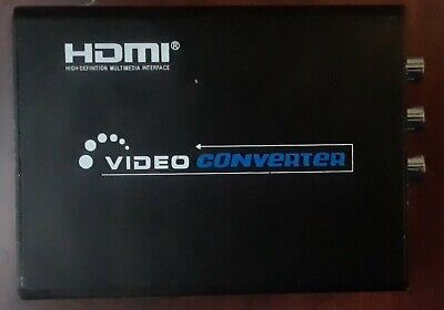 1080P HDMI To 3 RCA AV CVBS Composite S-Video Audio Converter Adapter Tested