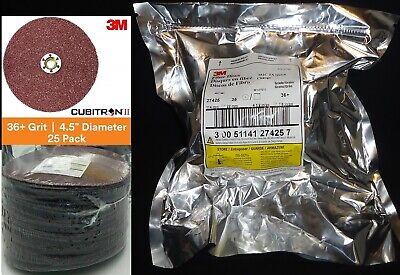 25 Pcs 3m Fiber Discs 4.5 Sanding Disc 982c Tn Quick Change 36 Grade 1 Pack