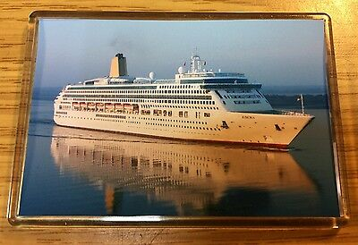 P&O Cruises AURORA At Southampton Photo Fridge Magnet Cruise Ship Ocean Liner