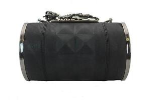 RELIGION DEFENCE SKELETON WOMEN'S BLACK SHOULDER STRAP CLUTCH BAG NEW