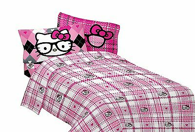 "Hello Kitty ""I Heart Nerd"" Microfiber Sheet Set, Twin"