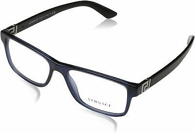 Authentic VERSACE VE3211 - 5111 Eyeglasses Transparent Blue *NEW*  55mm