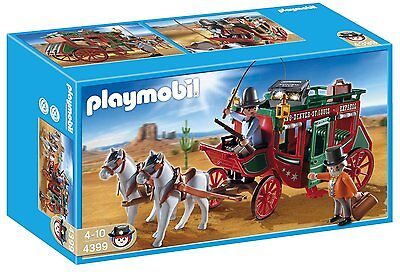 Playmobil 4399 Western Express Coach Horse Ages 4+ New Toy Build Play Gift Fun
