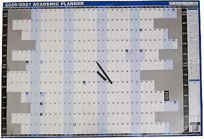 Académico Organizador Pared 2020/2021 + Fiscal Agenda Anual 2020/2021 Doble Cara
