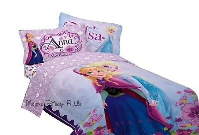 1e659670bb New Genuine Disney Store Frozen Elsa   Anna Twin Sheet   Pillowcase 3Pc Set