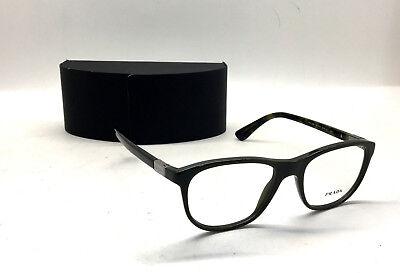 AUTHENTIC! Prada VPR 29S UF8-1O1 Men Women Eyewear Optical Frame Olive Camo BB7