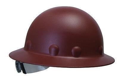 Fibre-metal Roughneck Full Brim Hard Hat With 8 Point Ratchet Suspension Brown