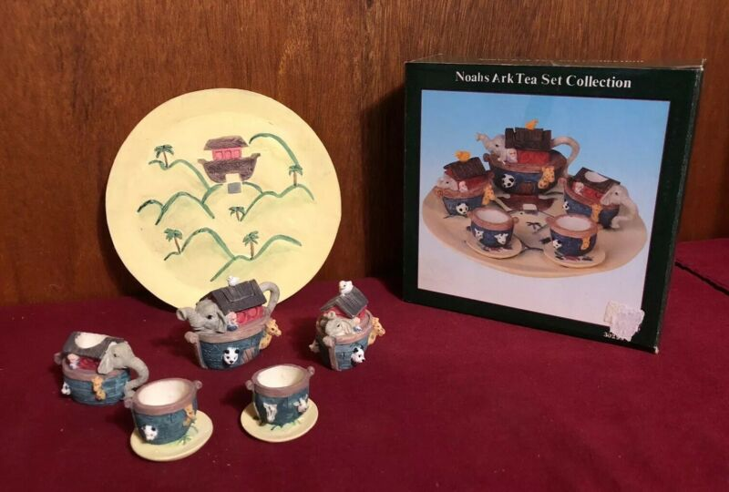 Vintage Noah's Ark Mini Tea Set 1995 Young's Inc