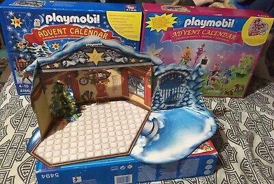 3x LoT Playmobil Christmas Advent Calendar Complete Pc Sets #'s 5492,4166,5494