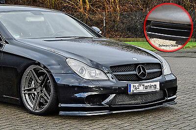 Spoilerschwert Frontspoiler ABS Mercedes CLS C219 AMG mit ABE schwarz glänzend