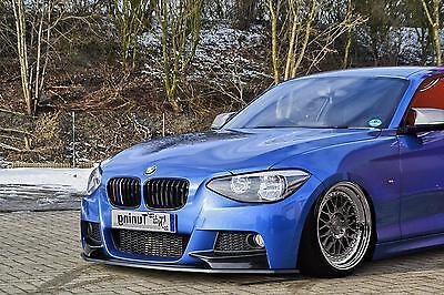 Cup Spoilerlippe Racing BMW 1er F20 Lippe Spoiler Diffusor schwert M Performance