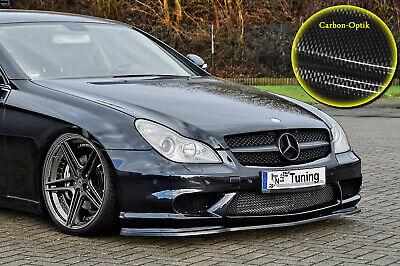 Spoilerschwert Frontspoiler ABS Mercedes CLS C219 AMG mit ABE Carbon Optik