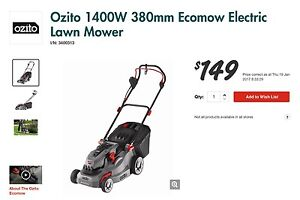 Ozito Electric lawnmower Wollongong Wollongong Area Preview