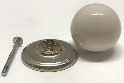 Vintage Gainsborough White Porcelain Closet Door Knob Brass No Lock