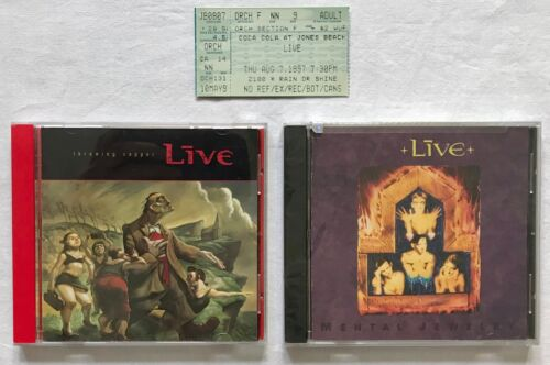 Live Mental Jewelry and Live Throwing Copper CDs Plus Used Ticket Stub 1997