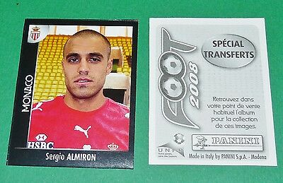PANINI FOOT 2008 FRANCE FOOTBALL 2007-2008 ALMIRON AS MONACO LOUIS II ASM