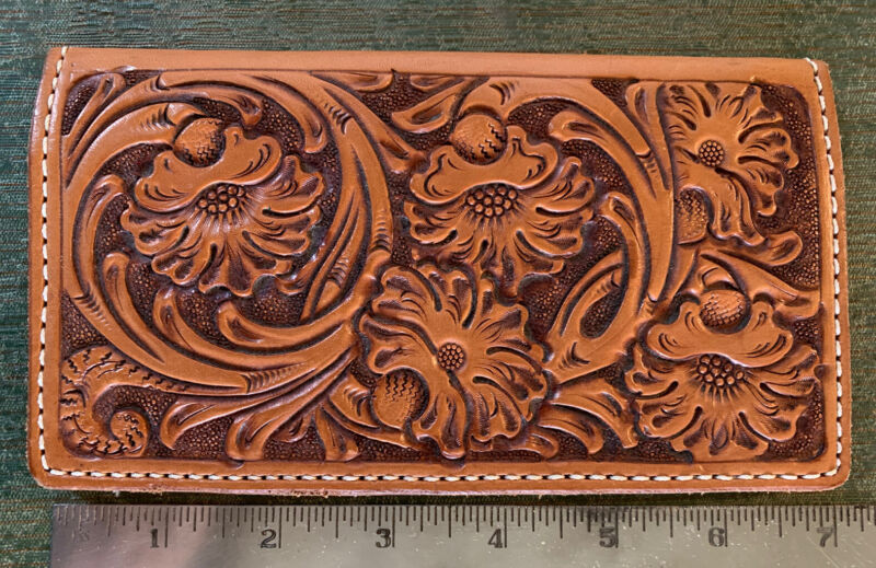 Western Style Tooled Leather Wallet by Oliver Amarillo Texas