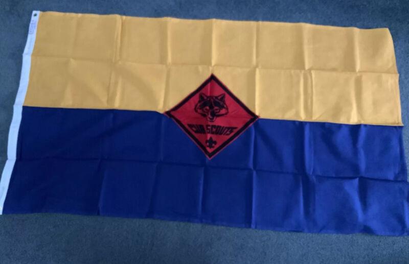 BSA Vintage  Cub Scout Flag 3'x5' Defiance 100% Cotton Clean NOS