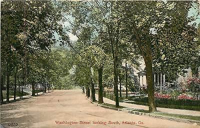 Georgia, GA, Atlanta, Washington Street Looking South 1910 Postcard