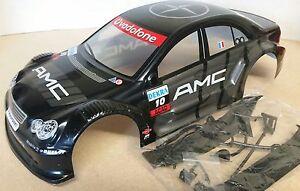 1/10 RC car 190mm on road drift Mercedes AMG Body Shell w/spoilers Black