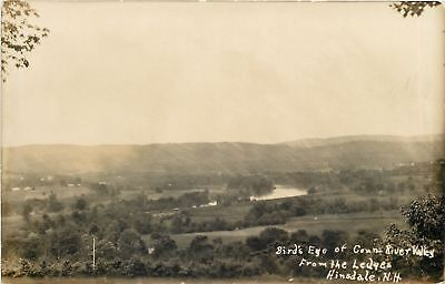 Hinsdale New Hampshire~Connecticut River Valley From Ledges~1920 Real Photo~RPPC