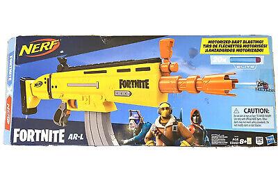 Fortnite AR-L Elite Dart Blaster NERF Gun With 20 Darts Opened Box